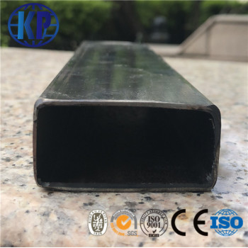 The manufacture supply black mild rectangular steel pipe furniture fittings