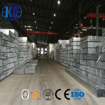 China factory direct sale high quality hot dipped galvanized pipe steel tube rectangular