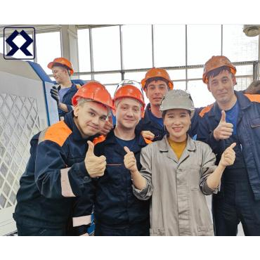 SANZHENG Pipe Theading Lathe Russia sales service maintenance line
