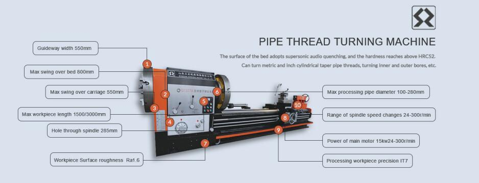 Conventional Pipe Thread Lathe