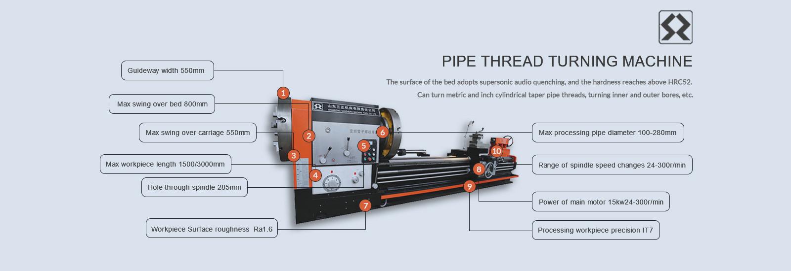 pipe lathe machine