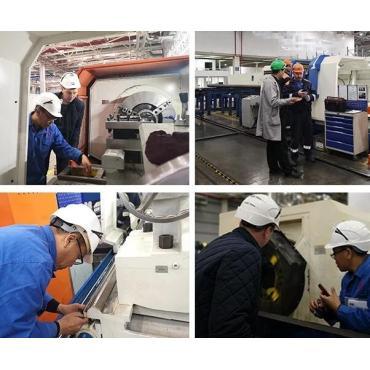 Torno de rosca de tubo CNC QK1313 exportado a Rusia