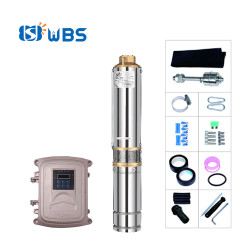 WBS 3-inch solar pump with plastic impeller solar deep well pump for Garden watering(free shipping)