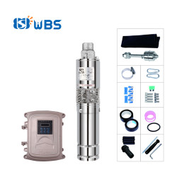 WBS solar submersible pump 3-inch stainless steel screw pump for living water Australia price(free shipping)