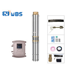 WBS 4-inch solar submersible pump with plastic impeller solar water pump for irrigation(free shipping)