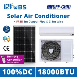 DC solar air cooler unit 18000BTU Off Grid solar power air conditioning system price
