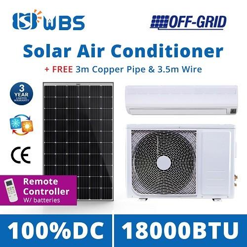 DC solar air cooler unit 18000BTU Off Grid solar power air conditioning system price