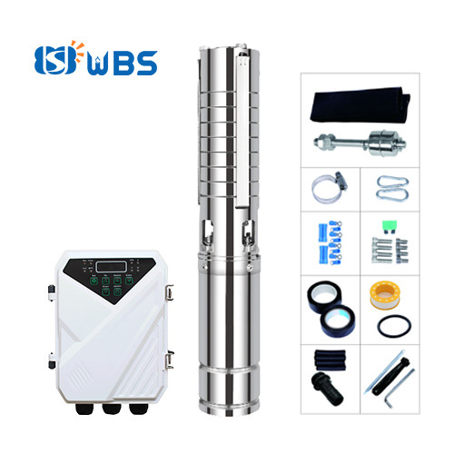 WBS 4-inch solar power pump with S/S impeller solar submersible pump for irrigation Wholesale price(free shipping)