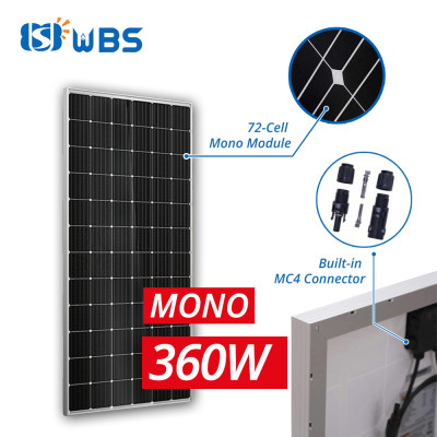 [PLM-Series] WBS 360W Mono Crystalline Module 36V with MC4 Connector 72 Cell High Efficiency - Australia Stock