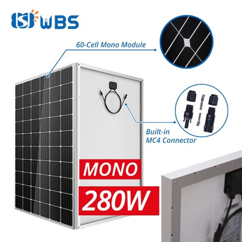 [PLM-Series] WBS 280W 30V Mono Crystalline Module Solar Panels 60 Cell PV High Efficiency DC - Australia Stock
