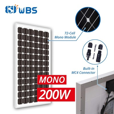 [PLM-Series] WBS 200W 36V Monocrystalline Solar Panels 72 Cell PV Power for Solar Bore Pump - Australia Stock