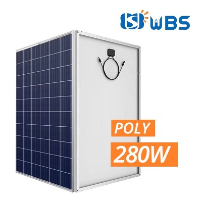 WBS 280W Poly Crystalline Module 30V with MC4 Connector 60 Cell High Efficiency