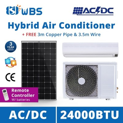 solar powered split system air conditioner AC/DC 24000 BTU solar powered air conditioner suppliers