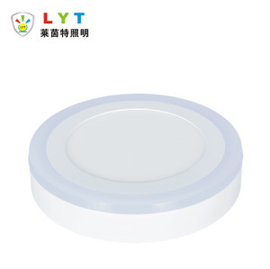 Surface Mounted Two Color Round Panel Light