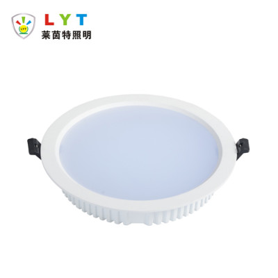Backlit round panel light