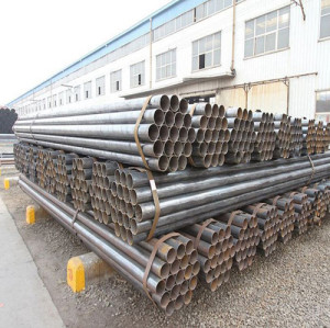 YOUFA construction pipe black steel pipe erw steel pipe welded steel pipe