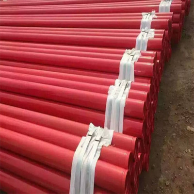 Certificado FM ASTM A135 A795 Tubo de acero con extremos acanalados galvanizados negro rojo