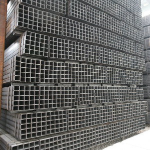 Welded black square ms steel pipe