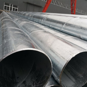 Spiral steel pipes/ SSAW pipes used for port construction project