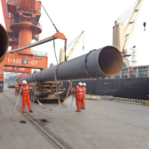 Spiral steel pipes/ SSAW pipes used for construction project from YOUFA