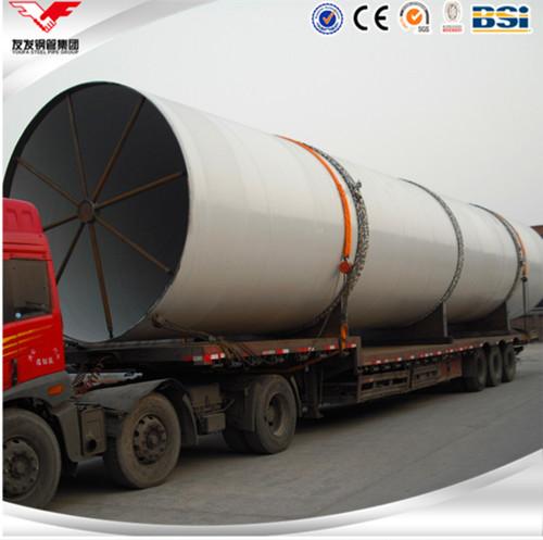 Q345B الأنابيب الفولاذية الملحومة اللولبية ذات القطر الكبير المموج