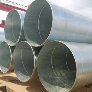 Galvanized coated Spiral welded steel pipes-galvanized SSAW