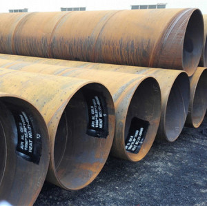 Tianjin Youfa Brand Q345B spiral  welded steel pipe larger diameter spiral pipe