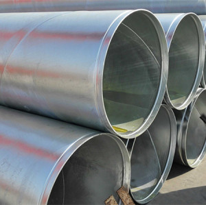 Grooved ends galvanized spiral steel pipes with API 5L standard