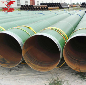 3PE coated large diameter Spiral welded steel pipes from YOUFA