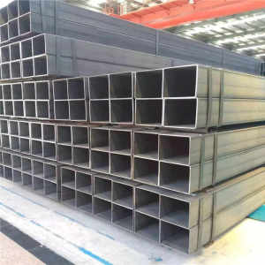 Hollow rectangular steel tube used in construction