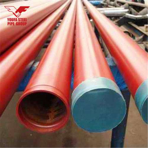 YOUFA brand Red Painted Sprinkler Pipe with grooved ends