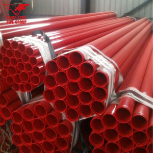 Red Painted Groove End Pipe for Fire Sprinkler System with UL and FM Certification