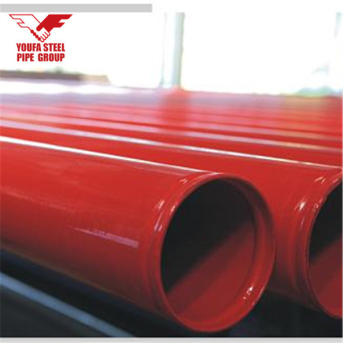 ASTM A53 Fire Sprinkler Pipe with Red Painted fire pipe slotted end YOUFA pipe