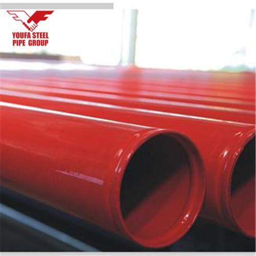Tubo de rociadores contra incendios ASTM A53 con extremos pintados y ranurados en rojo de YOUFA