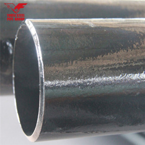 Youfa brand ERW carbon mild round steel pipe with black painting