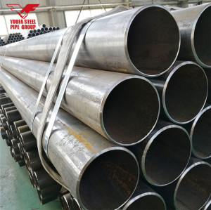Tianjin YOUFA manufacture price of 48 inch black erw steel pipe
