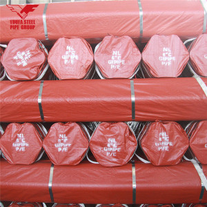 Youfa brand  hot sale ERW carbon steel pipe with pvc package