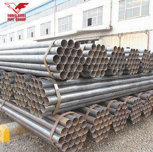 Youfa brand  ERW carbon black round steel pipe with grooved