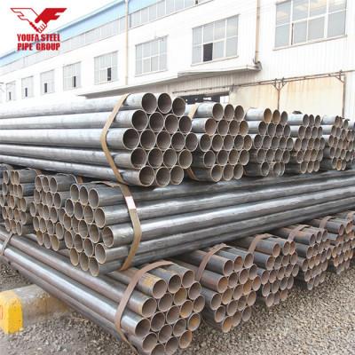 Youfa marca ERW tubo de acero redondo negro carbón con ranuras