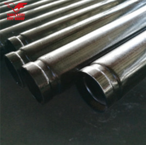 Youfa brand  ERW carbon black round steel pipe with grooved painting and belved