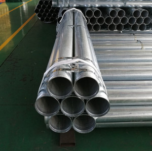 Slotted or Rolled Groove End Galvanized pipe Sch5 Sch10 Sch40