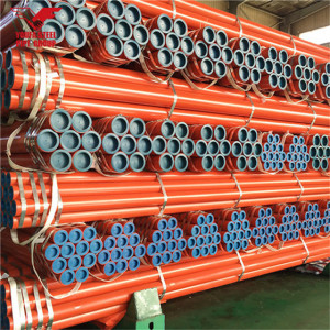 Youfa brand China manufacture ERW carbon black round steel pipe with red painting