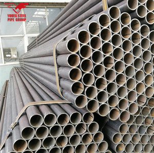 Tianjin Youfa manufacture brand hot sale  ERW  round steel pipe