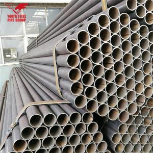 Tubo de metal negro redondo de acero al carbono, tubo de metal de Tianjin Youfa Factory