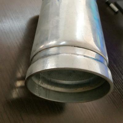 Tubo galvanizado por inmersión en caliente de 4 pulgadas, 6 pulgadas, 8 pulgadas con extremo de ranura de YOUFA