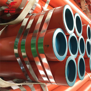 ERW  round steel pipe,can be red painted