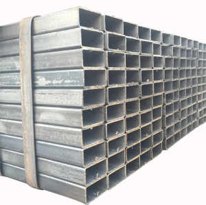 Square hollow rectangular steel tube used in construction