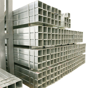 Grade JIS SS400 SS490 Hot dipped Galvanized Steel Pipe Square Tube Rectangular Hollow Section