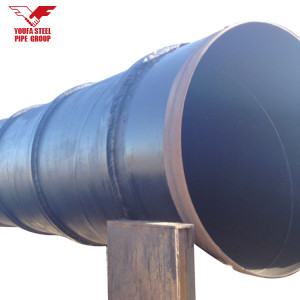 Spiral welded steel pipes with external ribs