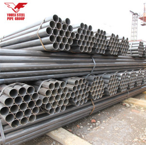 Youfa manufacure brand ERW carbon round mild steel pipe